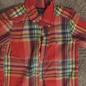 Toddler boys short sleeve polo button down